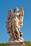 Statue on the St. Angelo Pedestrain Bridge; the bridge leads to the Castel Sant'Angelo, also called the Mausoleum of Hadrian, built between 123 and 139 AD
