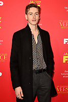 """HOLLYWOOD - JANUARY 8: Harris Dickinson attends the Red Carpet Premiere Event for FX's """"The Assassination of Gianni Versace: American Crime Story"""" at ArcLight Hollywood on January 8, 2018, in Hollywood, California. (Photo by Scott Kirkland/FX/PictureGroup)"""