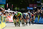 Green Jersey Wout Van Aert (BEL) Team Jumbo-Visma powers his way towards the finish line of Stage 5 of the Criterium du Dauphine 2019, running 201km from Boen-sur-Lignon to Voiron, France. 13th June 2019.<br /> Picture: ASO/Alex Broadway | Cyclefile<br /> All photos usage must carry mandatory copyright credit (© Cyclefile | ASO/Alex Broadway)
