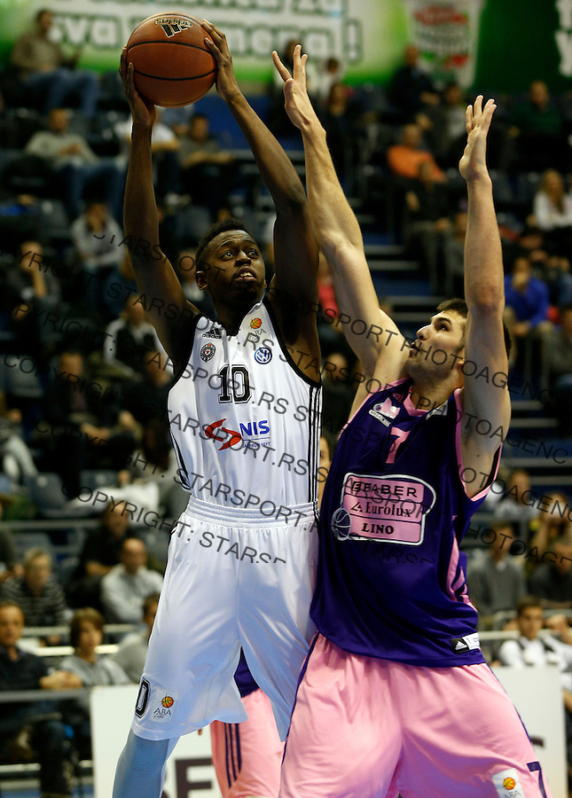 Boris Dallo ABA liga, Partizan - Mega Leks, Beograd, Srbija, 7.12.2014 (credit image & photo: Pedja Milosavljevic / STARSPORT). © 2014 Pedja Milosavljevic / +318 64 1260 959 / thepedja@gmail.com