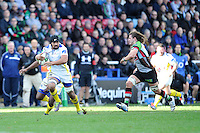 Fritz Lee of ASM Clermont Auvergne in action during the Heineken Cup Round 5 match between Harlequins and ASM Clermont Auvergne at the Twickenham Stoop on Saturday 11th January 2014 (Photo by Rob Munro)