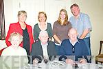 Gilbert Family Reunion: The Gilbert of Liselton held a family reunion dinner at The Listowel Arms Hotel on Sunday last. Front : Margaret Gilbert, Moss Joe Gilbert & Arthur Graham. Back : Mary, Ester Aoife &  Dermot Graham.
