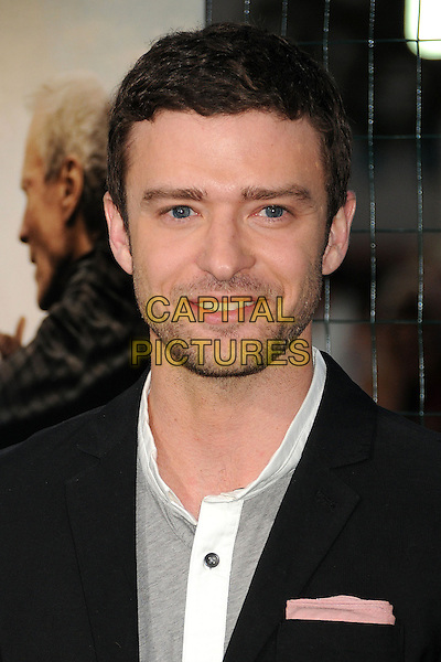 """Justin Timberlake.""""Trouble With The Curve"""" Los Angeles Premiere held at the Regency Village Theatre, Westwood, California, USA..September 19th, 2012.headshot portrait black grey gray white stubble facial hair .CAP/ADM/BP.©Byron Purvis/AdMedia/Capital Pictures."""