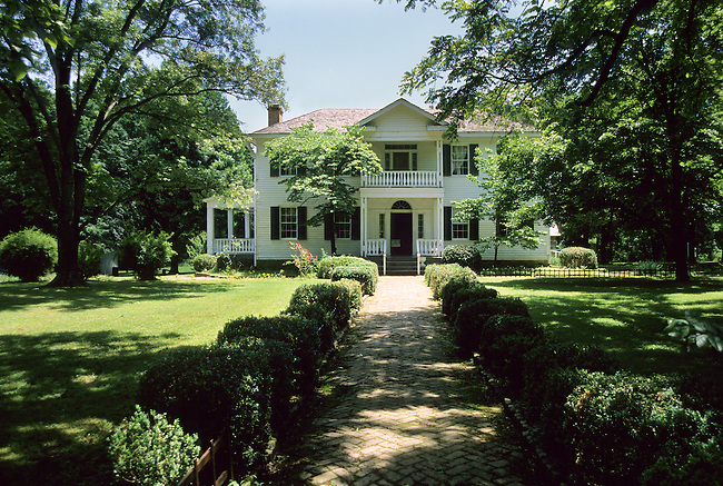 Murrell home that was constructed on Park Hill in 1845-1846 in part by slaves. The Murrells came to Oklahoma about the time of the Trail of Tears (1839)