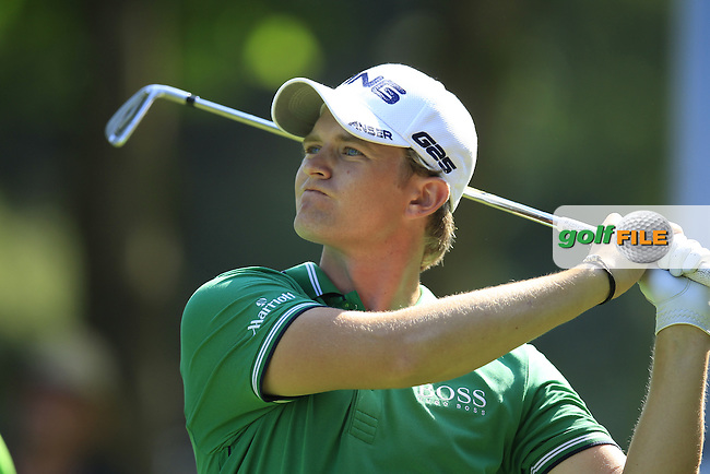 Tom Lewis (ENG) tees off the par3 17th tee during Thursday's Round 1 of the 2013 BMW International Open held on the Eichenried Golf Club, Munich, Germany. 20th June 2013<br /> (Picture: Eoin Clarke www.golffile.ie)
