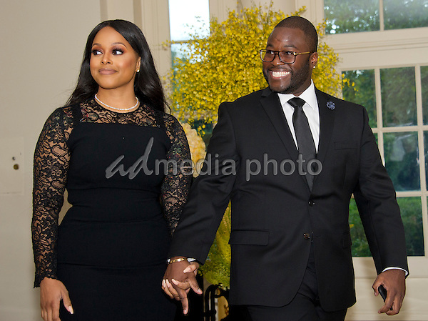Singer Chrisette Michele and Doug Ellison arrive for the State Dinner honoring Prime Minister Lee Hsien Loong of the Republic of Singapore at the White House in Washington, DC on Tuesday, August 2, 2016. Photo Credit: Ron Sachs/CNP/AdMedia