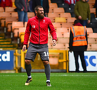 Lincoln City's Michael Bostwick during the pre-match warm-up<br /> <br /> Photographer Andrew Vaughan/CameraSport<br /> <br /> The EFL Sky Bet League Two - Port Vale v Lincoln City - Saturday 13th October 2018 - Vale Park - Burslem<br /> <br /> World Copyright © 2018 CameraSport. All rights reserved. 43 Linden Ave. Countesthorpe. Leicester. England. LE8 5PG - Tel: +44 (0) 116 277 4147 - admin@camerasport.com - www.camerasport.com