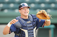 May 15, 2009: Catcher Jesus Sucre (34) of the Rome Braves, Class A affiliate of the Atlanta Braves, in a game against the Greenville Drive at Fluor Field at the West End in Greenville, S.C. Photo by: Tom Priddy/Four Seam Images
