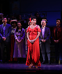 "Vanessa Williams and cast during the final performance curtain call for the New York City Center Encores! at 25 production of  ""Hey, Look Me Over!"" on February 11, 2018 at the City Center Theatre in New York City."