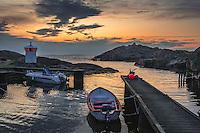 Brygga med båtar vid Landsort i  Stockholms skärgård. / Bridge with boats in Stockholms archipelago Sweden.