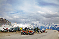 Motorcycles, Sella Pass, Dolomite Mountains, South Tyrol, Italy
