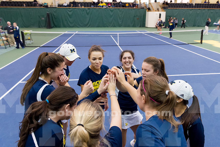 The University of Michigan women's tennis team, 6-1 victory over Texas at the Varsity Tennis Center in Ann Arbor, Mich., on Feb. 27, 2015