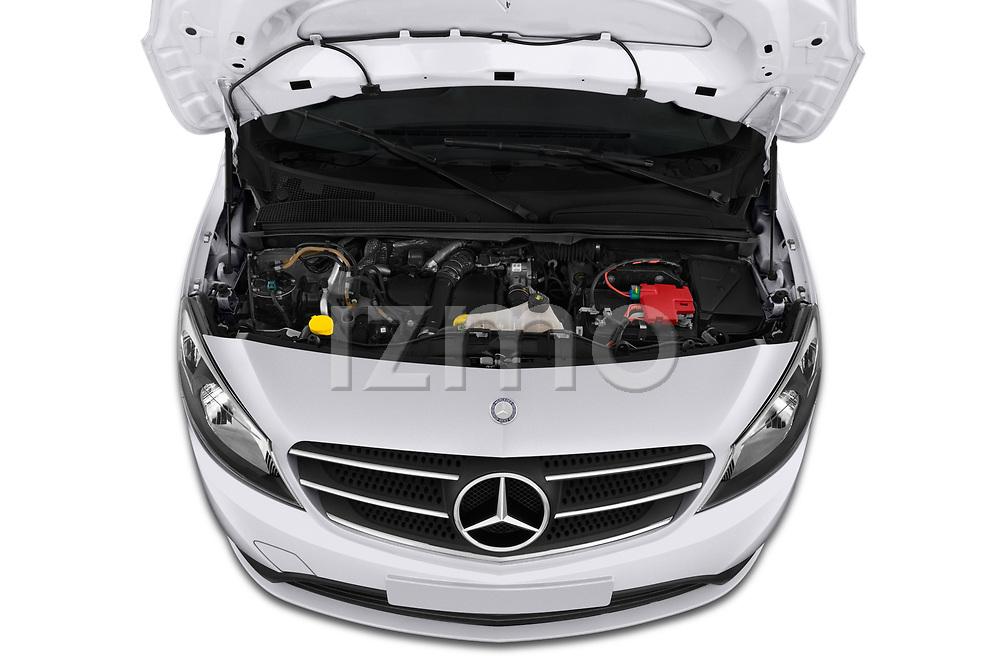 Car Stock 2019 Mercedes Benz Citan Perfect-Tool 5 Door Car Van Engine  high angle detail view