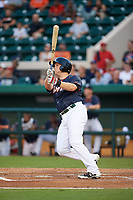 Daytona Tortugas designated hitter Gavin LaValley (32) hits a home run in the bottom of the third inning during the Florida State League All-Star Game on June 17, 2017 at Joker Marchant Stadium in Lakeland, Florida.  FSL North All-Stars  defeated the FSL South All-Stars  5-2.  (Mike Janes/Four Seam Images)