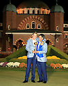 Ian Poulter of Team Europe poses with Jose Maria Olazabal after the closing ceremony of the 39th Ryder Cup matches, Medinah Country Club, Chicago, Illinois, USA.  28-30 September 2012 (Picture Credit / Phil Inglis)