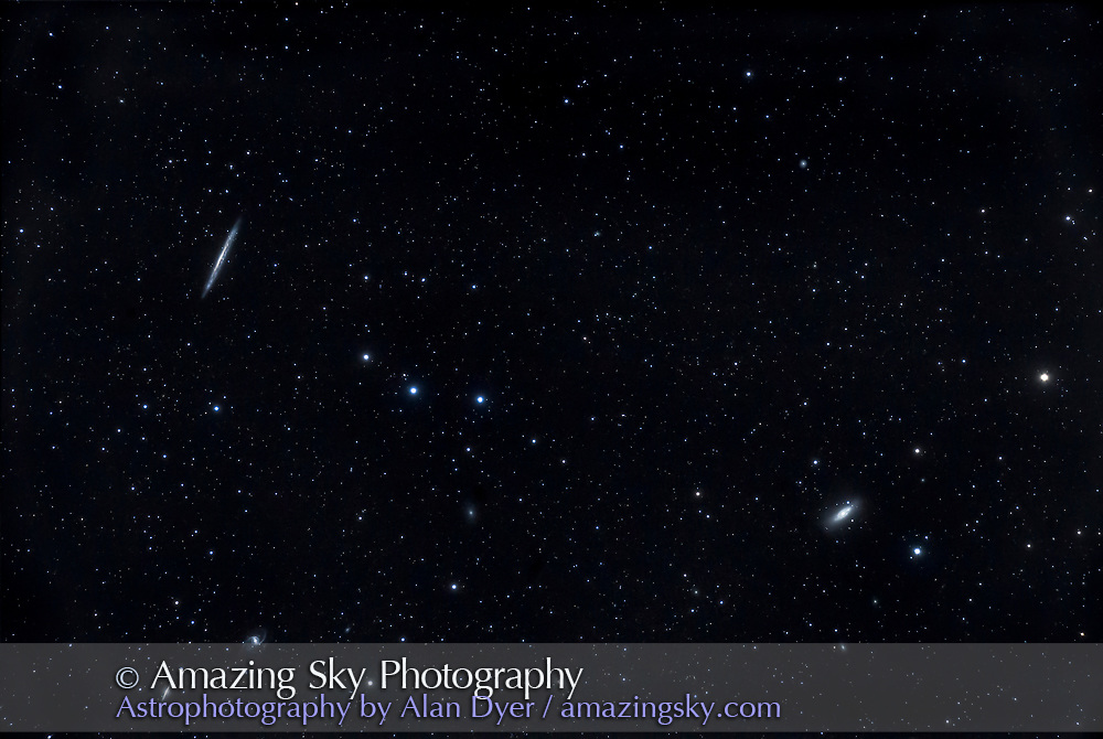 M102 (Spindle Galaxy) and NGC 5907 (Splinter Galaxy)   Amazing Sky