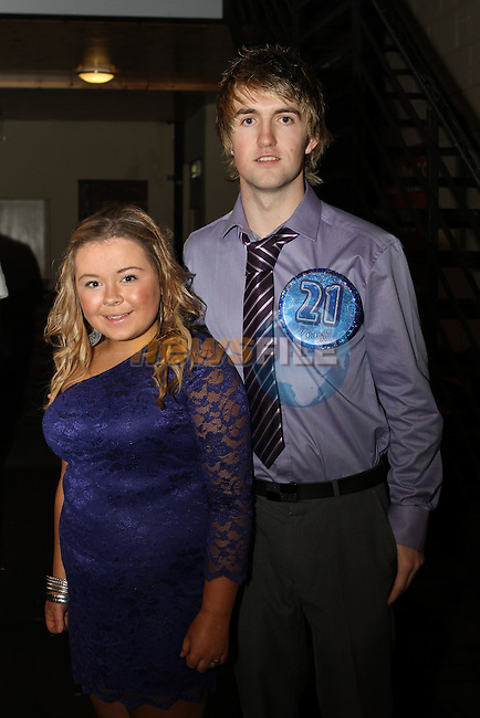Mark Closkey elebrates his 21st in the Star and crescent pictured here with Nicole Farrell in the Star and Crescent...(Photo credit should read Jenny Matthews www.newsfile.ie)....This Picture has been sent you under the conditions enclosed by:.Newsfile Ltd..The Studio,.Millmount Abbey,.Drogheda,.Co Meath..Ireland..Tel: +353(0)41-9871240.Fax: +353(0)41-9871260.GSM: +353(0)86-2500958.email: pictures@newsfile.ie.www.newsfile.ie.