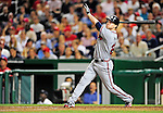 24 September 2010: Atlanta Braves outfielder Nate McLouth in action against the Washington Nationals at Nationals Park in Washington, DC. The Nationals defeated the Braves 8-3 to take the first game of their 3-game series. Mandatory Credit: Ed Wolfstein Photo