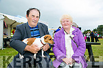 Enjoying the Abbeydorney Vintage rally on Sunday were l-r  Tom O'Mahony and Mary O'Mahony from Cahirciveen with their dog called Roxy.