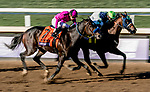 November 1, 2019: Storm The Court #4, ridden by Flavien Prat, wins the Breeders' Cup Juvenile at Santa Anita Park in Arcadia, California on November 1, 2019. Scott Serio/Eclipse Sportswire/Breeders' Cup/CSM