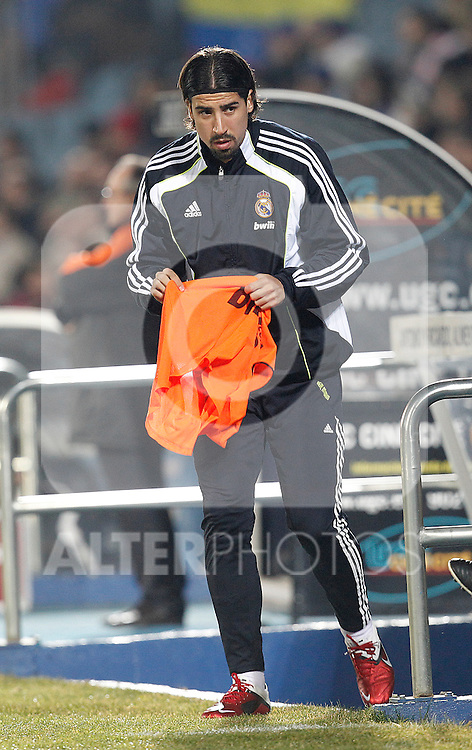 Real Madrid's Sami Khedira during la Liga match on January 3rd 2011...Photo: Cesar Cebolla / ALFAQUI