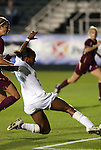 07 November 2008: North Carolina's Nikki Washington scores a goal. The University of North Carolina Tarheels defeated Boston College Eagles 2-0  at WakeMed Stadium at WakeMed Soccer Park in Cary, NC in a women's ACC tournament semifinal game.