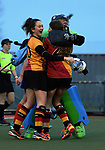 Action from the National Women's Association Under-18 Hockey Tournament match between Waikato and Tauranga at Twin Turfs in Clareville, New Zealand on Friday, 14 July 2017. Photo: Dave Lintott / lintottphoto.co.nz