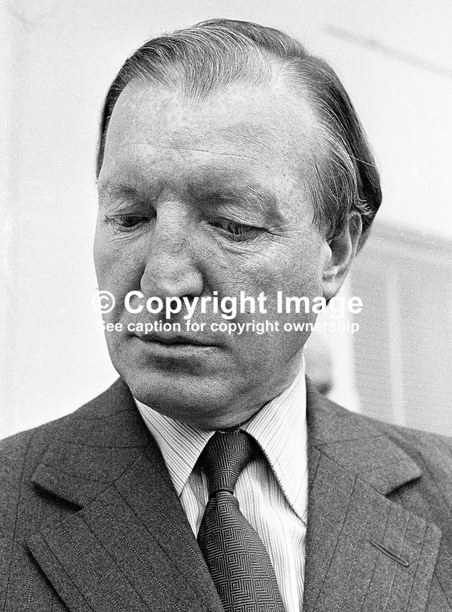 Charles J Haughey, Fianna Fail, TD, Government Minister, Health &amp; Social Welfare, Rep of Ireland, 218/77, 197707000218.<br />