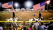 Dodge City, Kansas, USA, August 2011:.Rodeo, a popular sport in the Midwest, where a large percentage of population is raising cattle and working in beef industry. On Sunday evening this is the largest event..(Photo by Piotr Malecki / Napo Images)..Dodge City, Kansas, Stany Zjednoczone, Sierpien 2011:.Rodeo, popularny sport na Srodkowym Zachodzie, gdzie duza czesc mieszkancow zajmuje sie hodowla bydla lub pracuje w przemysle miesnym..Fot: Piotr Malecki / Napo Images.