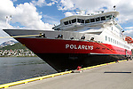 Hurtigruten ferry ship Polarlys at quayside, Tromso, Norway