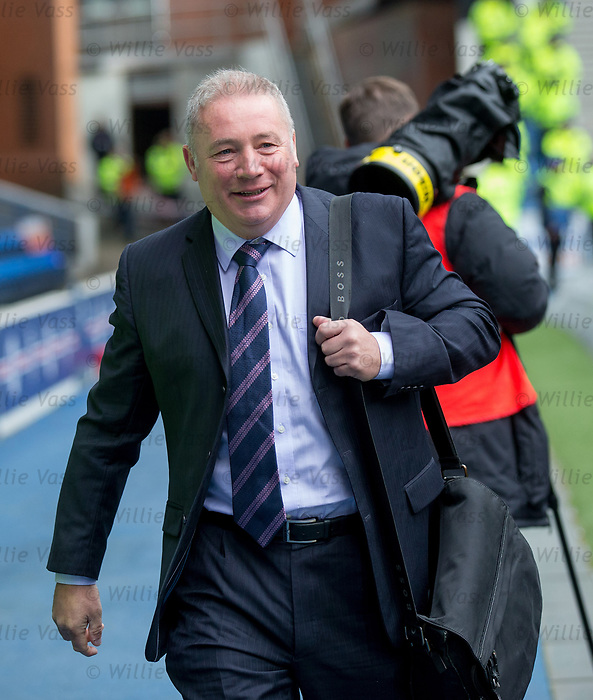Ally McCoist arrives at Ibrox for his Sky TV commentary role
