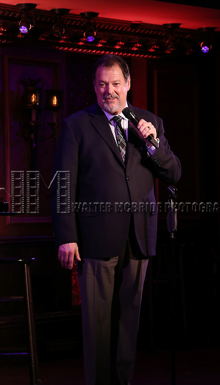 """Eric Michael Gillett performs A Special Press Preview of his upcoming show """"54 Below Swings Time and Again""""  at 54 Below on April 4, 2014 in New York City."""