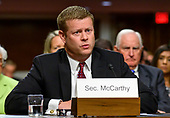 Ryan D. McCarthy testifies on his nomination to be Secretary of the Army before the United States Senate Committee on Armed Services on Capitol Hill in Washington, DC on Thursday, September 12, 2019.<br /> Credit: Ron Sachs / CNP