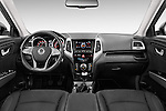 Stock photo of straight dashboard view of 2015 Ssangyong Tivoli Quartz 5 Door Suv Dashboard