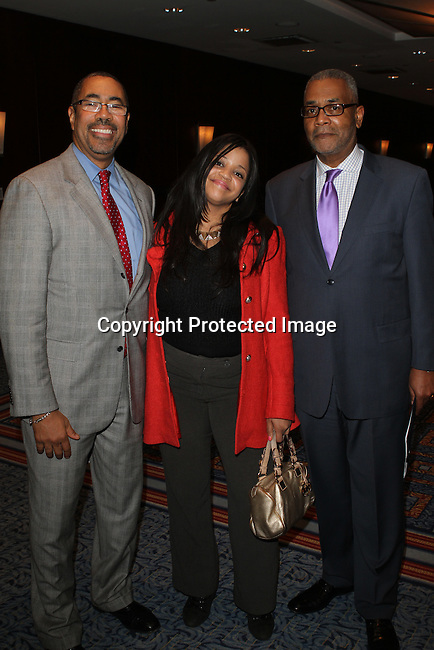 Harlem Community Development Corporation's President Curtis L. Archer, Esq., Nina Flowers and NY City Planning Commission's Vice Chairman Kenneth Knuckles Attend The Greater Harlem Chamber of Commerce and its media partners WBLS-FM and New York Amsterdam News presents: New York City Tourism 2013, Hosted by NYC & CO, Marriott, Harlem Arts Alliance and I LOVE NY Held at the Marriott Marquis Hotel, NY