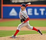 11 April 2012: Washington Nationals starting pitcher Stephen Strasburg on the mound against the New York Mets at Citi Field in Flushing, New York. Strasburg had the longest outing of his career, throwing 108 pitches for his first win of the season, as the Nationals shut out the Mets 4-0 to take the rubber match of their 3-game series. Mandatory Credit: Ed Wolfstein Photo