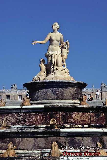 Latona Water Fountain In Versailles Chateau Gardens