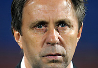 Ghana manager Milovan Rajevac. Ghana defeated the USA 2-1 in overtime in the 2010 FIFA World Cup at Royal Bafokeng Stadium in Rustenburg, South Africa on June 26, 2010.
