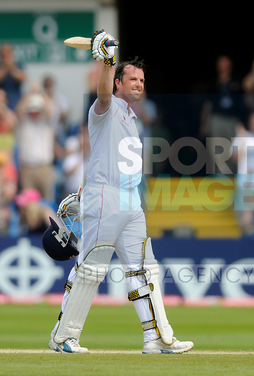 England's Graeme Swann defies the Australians with a half century.