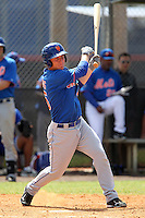 New York Mets second baseman Robbie Shields #45 during a minor league spring training intrasquad game at the Port St. Lucie Training Complex on March 27, 2012 in Port St. Lucie, Florida.  (Mike Janes/Four Seam Images)