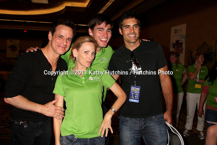 LAS VEGAS - JUN 18:  Christian LeBlanc, Marlee Matlin, guest, Galen Gering  at the Starkey Foundation Event giving hearing aids to children who can't afford them in association with Children's Miracle Network and the Daytime Emmys at Hilton Hotel on June 18, 2010 in Las Vegas, NV.