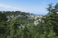 Overview of McLeod Ganj, Tibetan community where the Dalai Lama lives.