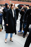 Actress Olivia Cooke outside aol live on December 12, 2018 in New York City. (PHOTO: WILLIAM VOLCOV/BRAZIL PHOTO PRESS)