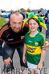 Jayden and Gerard Foley, Kerry fans, pictured at the Kerry v Clare Munster Senior Football Semi-Final at Cusack, Park, Ennis on Sunday last.