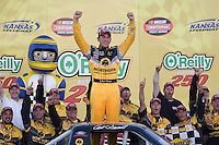 Erik Darnell in the Northern Tool Equipment Ford wins the  the Nascar Craftsman Truck Series O'Reilly Auto Parts 250 at Kansas Speedway in Kansas City, Kansas on April 28, 2007.