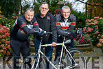 John Murray, Thomas Crowley and Dave Elton of the Chain Gang cycling club in Tralee.