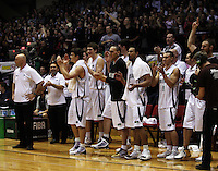 The Tall Blacks celebrate winning the International basketball match between the NZ Tall Blacks and Australian Boomers at TSB Bank Arena, Wellington, New Zealand on 25 August 2009. Photo: Dave Lintott / lintottphoto.co.nz