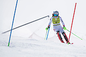 17th March 2018, Àvet Slope, Soldeu, Andorra; FIS Alpine Ski European Cup, Slalom Ladies Finals; #5 HUBER Katherina from AUT during the Slalom Final