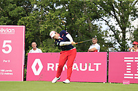 Ariya Jutanugarn (THA) tees off the 5th tee during Friday's Round 2 of The Evian Championship 2018, held at the Evian Resort Golf Club, Evian-les-Bains, France. 14th September 2018.<br /> Picture: Eoin Clarke | Golffile<br /> <br /> <br /> All photos usage must carry mandatory copyright credit (&copy; Golffile | Eoin Clarke)