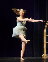 NWA Democrat-Gazette/BEN GOFF @NWABENGOFF<br /> Jordan Wilson performs a dance routine on Thursday Sept. 24, 2015 during Talent Night of the Miss Bentonville High School Scholarship Pageant in the school's Arend Arts Center. Evening gown, finals and awards for the pageant will be held at the school on Saturday at 7:00p.m.